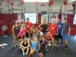 Awesome Saturday morning crew! Shereen and Jonathan Bienz dropped in from out of town and crushed this workout!